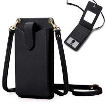 Peacocktion Small Crossbody Cell Phone Purse for Women, Lightweight Mini Shoulder Bag Wallet with Credit Card Slots