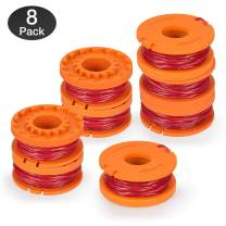 Eventronic Replacement 10ft Grass Trimmer Line Spool, Compatible with Worx String Trimmers (8-Line spools)