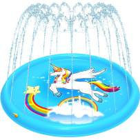 """Amagoing 68"""" Sprinkler for Kids, Unicorn Splash Pad Kids Pool, Inflatable Water Toys for Toddlers - Baby Wading Swimming Pool - Fountain Play Mat for Infant"""