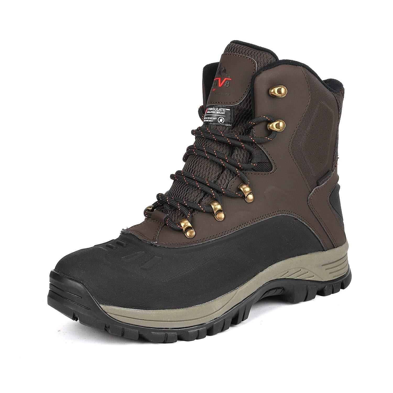 NORTIV 8 Men's Waterproof Hiking Winter Snow Boots