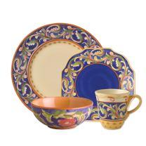 Pfaltzgraff Villa Della Luna Blue 48 Piece Dinnerware Set, Service for 12