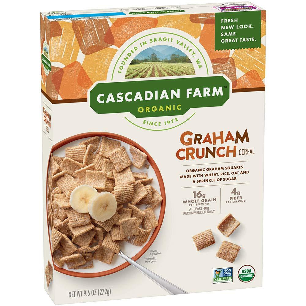 Cascadian Farm Organic Graham Crunch Cereal 9.6 oz Box