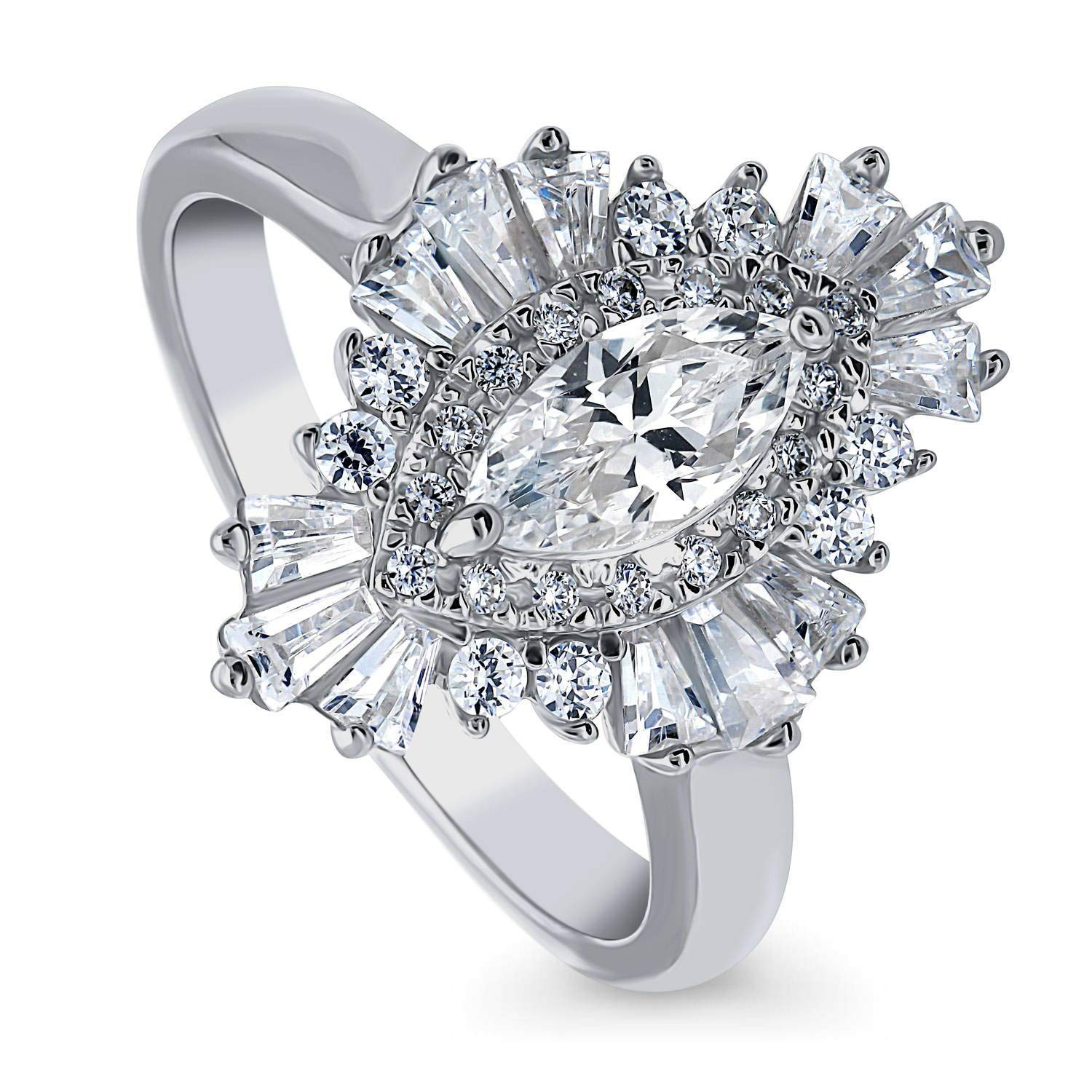 Designer Sterling Silver Plated Halo wedding Ring CZ Halo Bridal Rings Special Gift Round Cut CZ Engagement ring Round Cut Promise Cz Ring