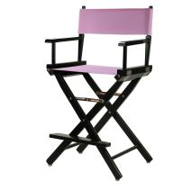"""Casual Home 220-02/021-22 Director Chair 24"""" - Counter Height BlackFrame/Pink Canvas"""