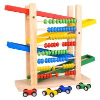 Dreamy Accessories Wooden Race Tracks for Boys + Abacus Perfect Montessori Toys for Toddlers Waldorf Toys Autism Toys