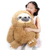 Winsterch Fluffy Sloth Stuffed Animal Toy Gift for Kids Large Plush Sloth Bear Baby Doll Birthday Gifts ,20 inches
