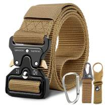 """Tactical Belt,Military Style Quick Release Belt,1.5"""" Nylon Riggers Belts for Men,Heavy-Duty Quick-Release Metal Buckle"""