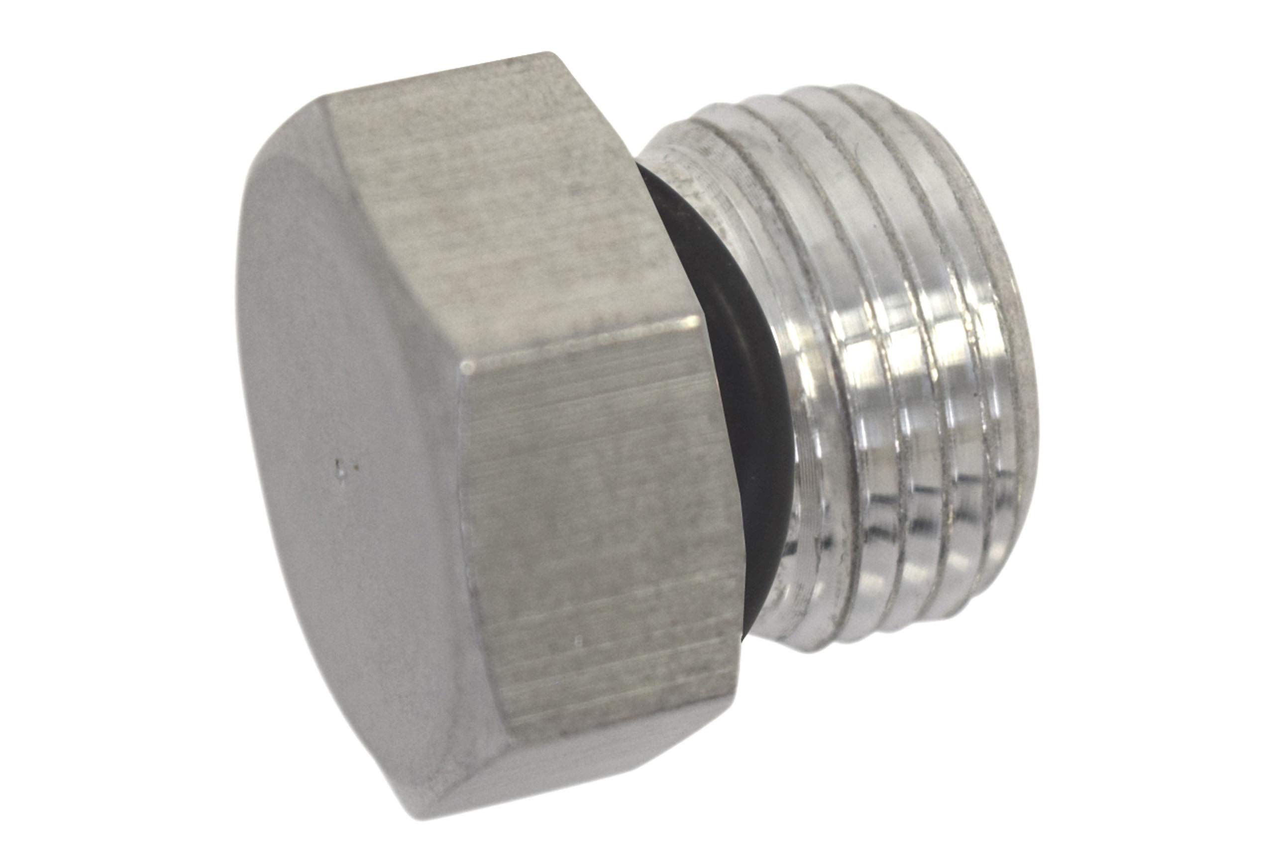 ICT Billet -8AN ORB Straight Thread Plug Male Nut Cap Fitting Aluminum AN814-08A