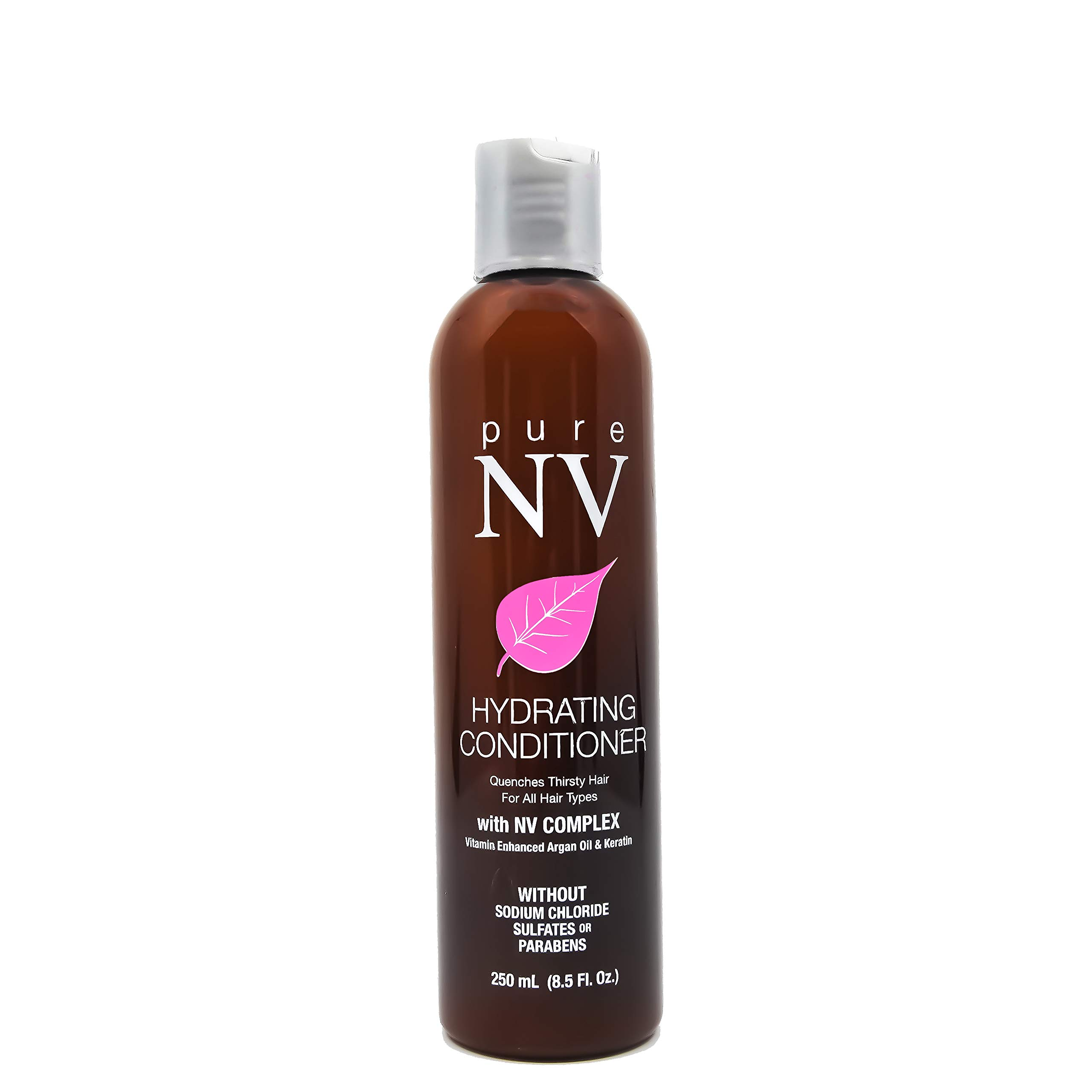 Pure NV Hydrating Conditioner for dry and damaged hair. Infused with Argan Oil, Keratin, & Collagen, along with other vitamins and nutrients (8.5oz)