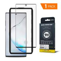 GPEL Galaxy Note 10 Plus Screen Protector Tempered Glass Compatible with Ultrasonic Fingerprint Case Friendly HD Clear 3D Curved Bubble Free 9H Hardness Easy Installation with Applicator
