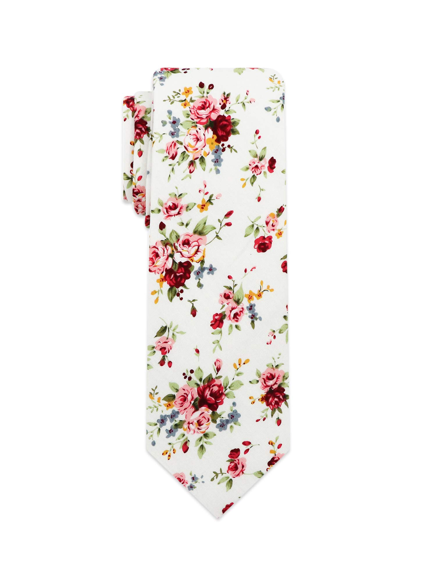 ESIR Fashion Floral Men's tie - Cotton Printed necktie - Regular size tie