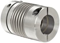 """Lovejoy 77015 Size BWLC-78 Bellows Clamp Style Coupling, Complete Coupling, Metric, 15 mm Bore A, 15 mm Bore B, 2.598"""" OD, 3.071"""" Length, 531 in-lbs Nominal Torque, 8600 rpm Max Rotational Speed"""