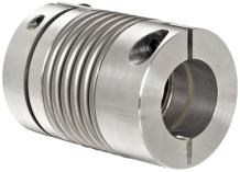 "Lovejoy 76983 Size BWLC-63 Bellows Clamp Style Coupling, Complete Coupling, Inch, 0.75"" Bore A, 0.75"" Bore B, 1.772"" OD, 2.48"" Length, 159 in-lbs Nominal Torque, 12700 rpm Max Rotational Speed"