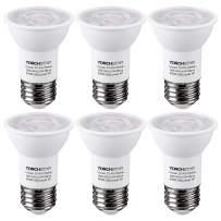 TORCHSTAR LED PAR16 Spot Light Bulbs, 6.5W(50W Eqv.) 500lm E26 Medium Base Dimmable Spotlight, 40° Beam Angle, UL & Energy Star Listed Track Light Bulb, 4000K Cool White, 3-Year Warranty, Pack of 6
