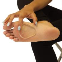Premium Gel Ball of Foot Cushions - Reusable Clear Gel Metatarsal Pads - Foot Pain Relief - 1/4 Inch - 4 Pair
