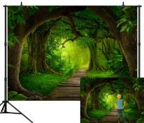 CapiSco 7X5FT Forest Backdrops for Photography Deep Tropical Jungles Backdrop Ancient Trees Green Forest Dreamy Fairytale Backdrop for Children Baby Boys Kids Adults Portraits SCO31