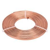 BENECREAT 32 Feet 5mm Wide Flat Jewelry Craft Wire 18 Gauge Aluminum Wire for Bezel, Sculpting, Armature, Jewelry Making - Copper