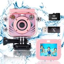 Suhleir Kids Camera, Waterproof Kids Digital Camera DV for Girls and Boys, High Resolution Kids Video Sports Camera, 1080P HD Camera for Kids Compatible with 32GB Memory Card. (Pink)