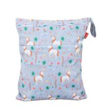 Damero Cloth Diaper Wet Dry Bag with Handle for Swimsuit, Pumping Parts, Wet Clothes and More, Ideal for Travel, Exercise, Daycare, Swimming, Reusable and Water-Resistant (Medium,Unicorn)