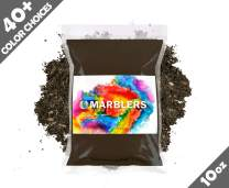 Marblers Powder Colorant 10oz (283g) [Coffee Brown]   Pearlescent Pigment   Tint   Pure Mica Powder for Resin   Dye   Non-Toxic   Great for Epoxy, Soap, Nail Polish, Cosmetics and Bath Bombs