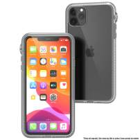 Catalyst - Case For iPhone 11 Pro Max Case with Clear Back, Heavy Duty 10ft Drop Proof, Truss Cushioning System, Rotating Mute Switch Toggle, Compatible with Wireless Charging, Lanyard Included- Clear