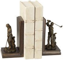 """Kensington Hill Lady and Gent 7"""" High Golfers Bookends Set"""