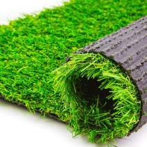 MMG Realistic Landscape Artificial Grass, Ideal for Indoor or Outdoor, Pile Height 1.6 inches (6.56 x 13.48 feet)