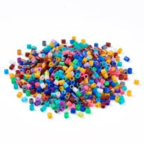 Kissitty About 8000pcs/bag Melty PE Fuse Tube Beads Kit 5x5mm Colorful DIY Craft Refill Compatible Beads