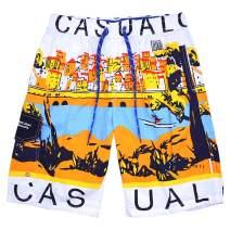 techcity Boys Teens Swim Trunks, Quick Dry Surfing Beach Sports Running Swim Shorts with Drawstring 6T to 18/20