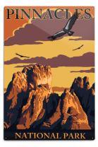 Lantern Press Pinnacles National Park, California - Condors 32380 (6x9 Aluminum Wall Sign, Wall Decor Ready to Hang)
