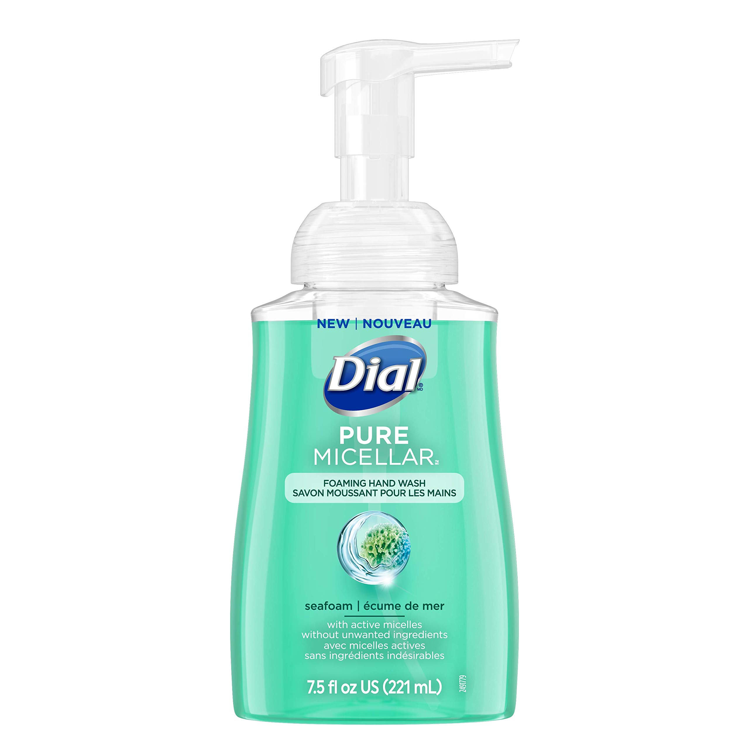 Dial Pure Micellar Foaming Hand Soap, Seafoam, 7.5 Ounce