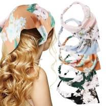 Hair Bandana Hair Scarf Headband TOBATOBA 5 Pcs Beautiful Floral Headband for Women Chiffon Fashion Headbands Thin Headbands for Women Boho Headbands Elastic Hair Bandanas for Women Pañuelos Para La Cabeza Para Mujer