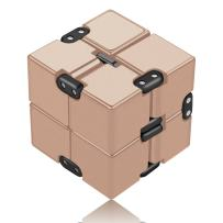 open up to love Infinity Cube Fidget Toy Hand Killing Time Prime Infinite Cube for ADD, ADHD, Anxiety, and Autism Adult and Children (Golden)