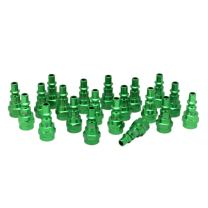 "ColorFit by Milton 778AC-20 Pneumatic Plugs - (A-style, Green) - 1/4"" NPT Female, (Box of 20)"