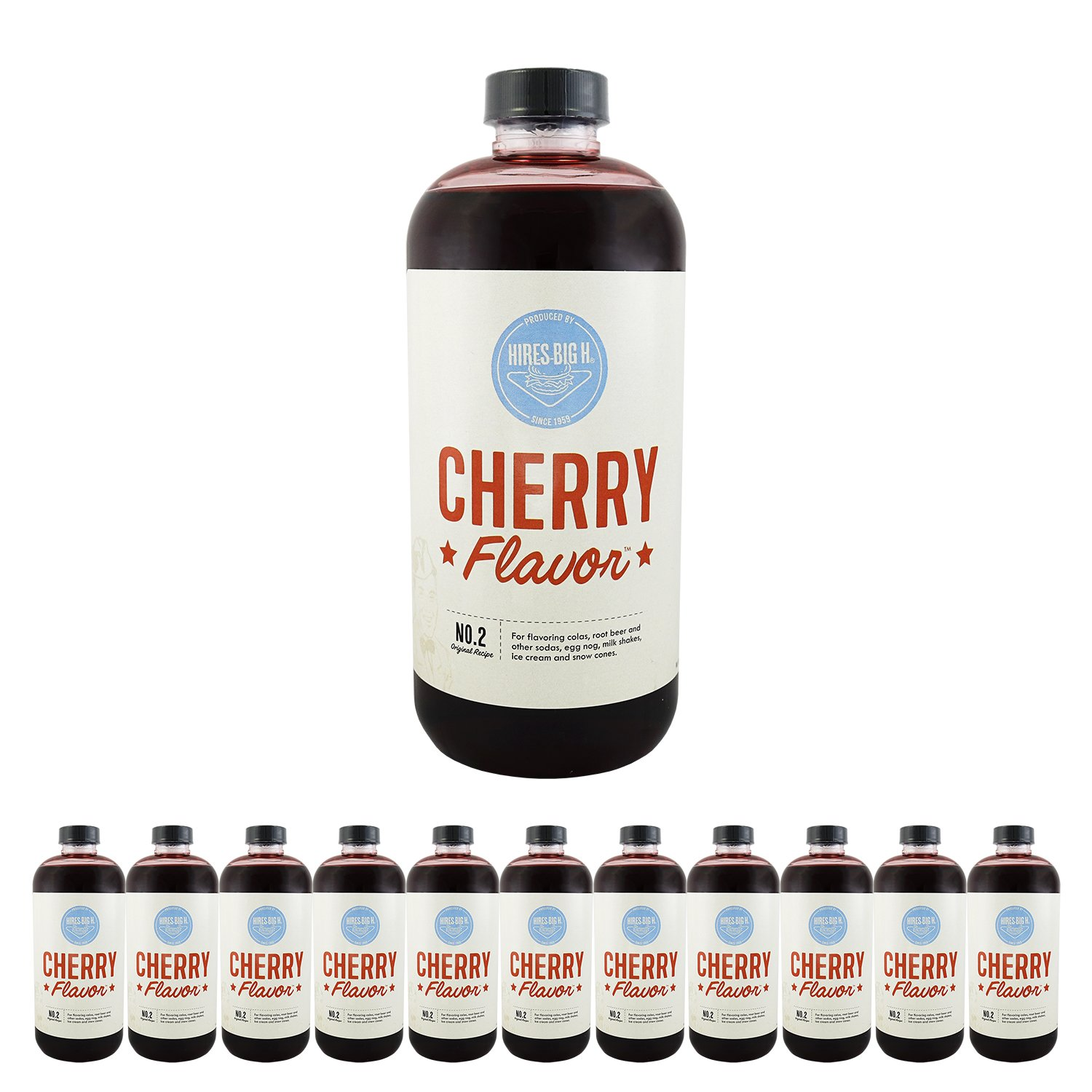 Hires Big H Cherry Syrup, Great for Soda Flavoring - 12 Pack