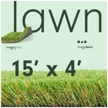 MEGAGRASS 15x4 Ft Lawn Thick Artificial Grass Rug