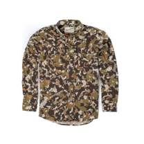 Duck Camp Men's Button Down Long Sleeve Hunting Shirt Midweight - Early Season Wetland Camouflage