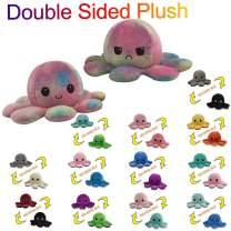ABenxxou Kids Soft Reversible Octopus Stuffed Animal, Cute Plush Toys Double-Sided Flip Doll