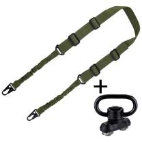 BOOSTEADY Two Point Sling with M-lok QD Swivel Mount, Gun Sling for Rifle, Lightweight Gun Strap