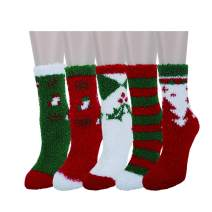 Zmart Women Girls Fun Fuzzy Colorful Indoors Warm Slipper Socks, Cute Animal
