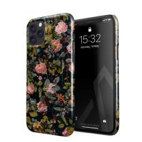 BURGA Phone Case Compatible with iPhone 11 PRO - Cherries Blossom Floral Print Pattern Vintage Flowers Peony Cute Case for Women Thin Design Durable Hard Plastic Protective Case