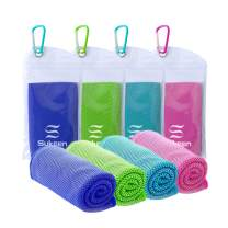"""Sukeen [4 Pack] Cooling Towel (40""""x12""""),Ice Towel,Soft Breathable Chilly Towel,Microfiber Towel for Yoga,Sport,Running,Gym,Workout,Camping,Fitness,Workout & More Activities"""