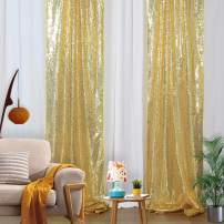 2FTx8FT Sequin Backdrop Panels Gold Sequin Curtains Backdrop Glitter Backdrop for Drapes Gold Glitter Background Curtains
