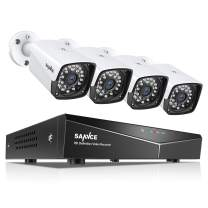 SANNCE 1080P Full HD Security Camera System with 4pcs 1920TVL Outdoor CCTV Cameras, Easy PoE Installation, Real Plug & Play Network Video Surveillance System-NO HDD