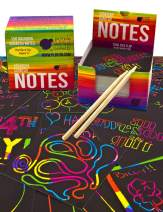 Purple Ladybug Rainbow Scratch Off Mini Art Notes 2 Wooden Stylus Set: 150 Sheets of Rainbow Scratch Paper for Kids Arts and Crafts, Airplane or Car Travel Toys! Fun Gift for Girls, Women or Anyone!