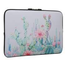 Cactus Laptop Sleeve Case Bag Cover, Water Repellent Neoprene Light Weight Carrying Skin Bag Fit 13-13.3 Inch MacBook Pro, MacBook Air, Notebook