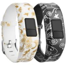 SKYLET Compatible with Garmin Vivofit JR Bands/Vivofit 3/ JR.2 Bands, Silicone Replacement Bands Compatible with Garmin Vivofit 3 Vivofit JR.2 with Secure Buckle Kids Women Men Large Small