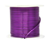 Mandala Crafts Anodized Aluminum Wire for Sculpting, Armature, Jewelry Making, Gem Metal Wrap, Garden, Colored and Soft, 1 Roll(14 Gauge, Purple)