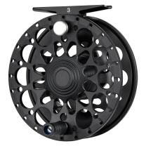 Piscifun Crest Fully Sealed Drag Large Arbor Fly Fishing Reel Saltwater CNC-machined Aluminum Alloy Fly Reel 5/6, 7/8, 9/10 (Green,Black)