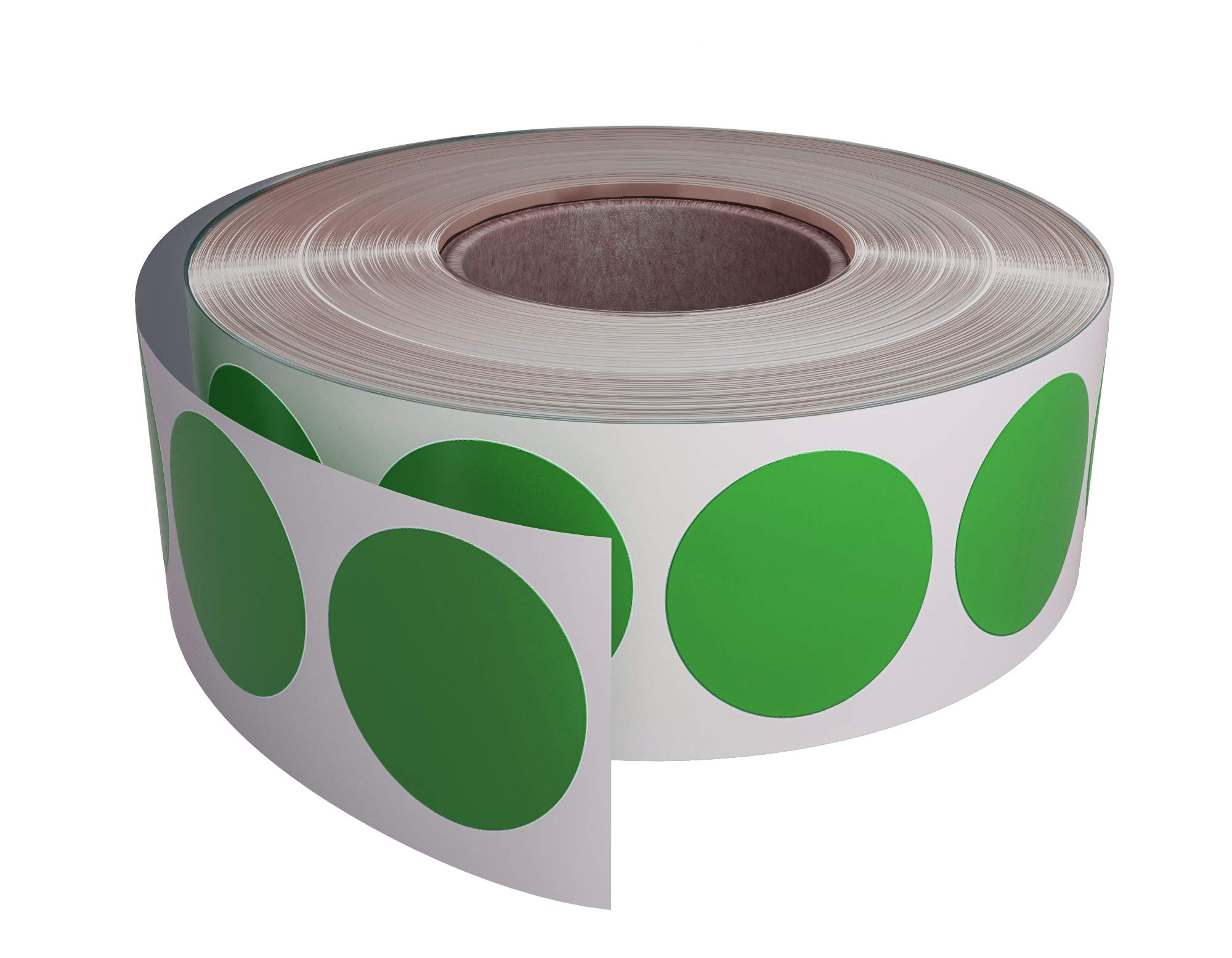 "Royal Green Color Coding Labels roll - 3/4"" Diameter Round Dot Stickers in Green Size - 19mm 1050 Pack"